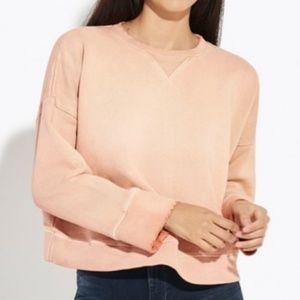 100% Heavyweight Cotton Boxy Sweatshirt Pink